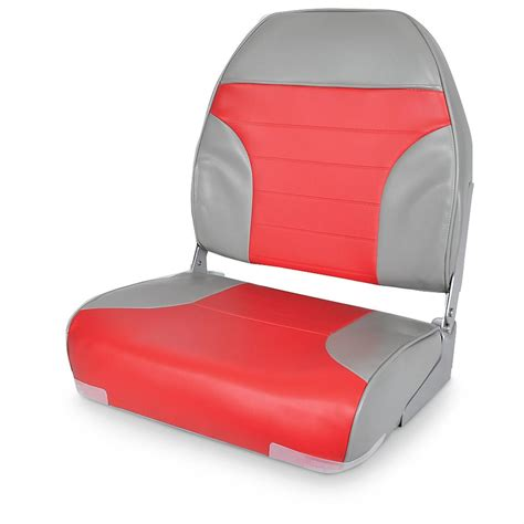 red fishing boat seats deluxe high back 2 tone fishing boat seat 640169 fold