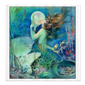 vintage mermaid shower curtain pin by melissa rhoades on mermaids pinterest