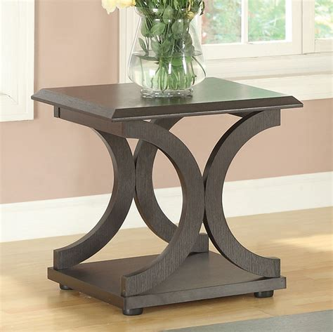 coaster furniture end tables coaster 703147 end table cappuccino 703147 at homelement com
