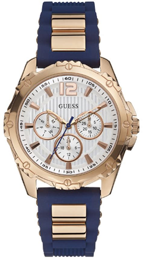 Guess W0149l5 Rosegold Blue guess w0325l8 4 iconic blue for intrepid 2