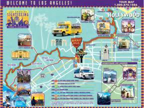 Los Angeles Tourist Map by Los Angeles California