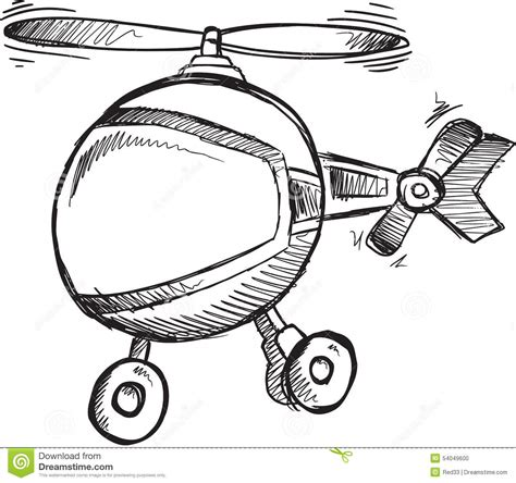 doodle helicopter doodle helicopter vector stock vector image 54049600