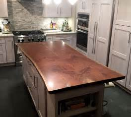 countertop for kitchen island live edge wood countertops brooks custom