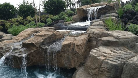 backyard water feature custom pool waterfalls water features ponds backyard