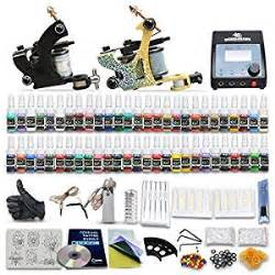 tattoo kit amazon amazon com great beginner tattoo kit set 54 color inks