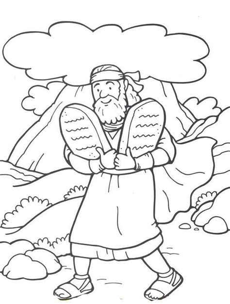 preschool bible coloring pages moses 48 moses and the 10 commandments vbs moses coloring