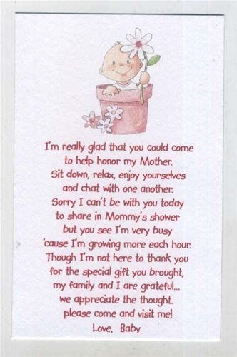 Baby Shower Poems by Poem Baby Shower Favors And Baby Showers On