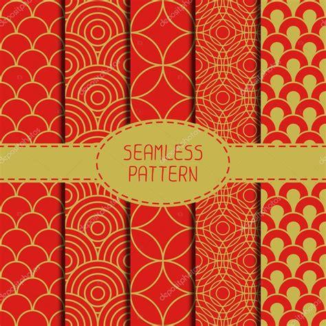 new year background pattern set of geometric national chinese seamless pattern