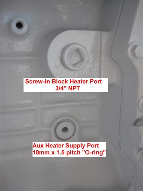 screw  immersion type block heater ports seaboard marine