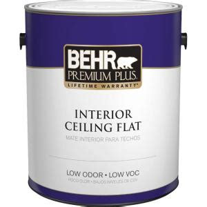 behr premium plus 1 gal flat interior ceiling paint 55801