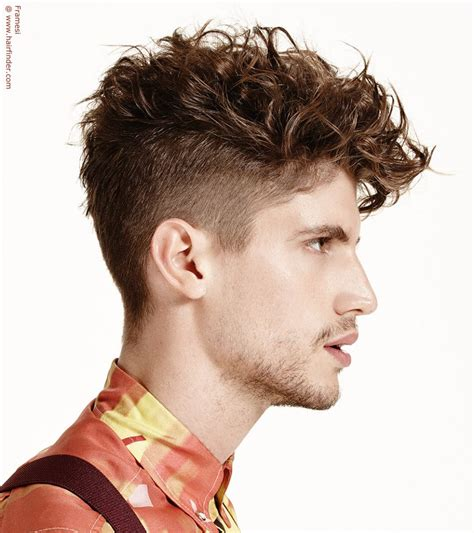 mens perm short hairstyles men s hairstyle with curls and an undercut