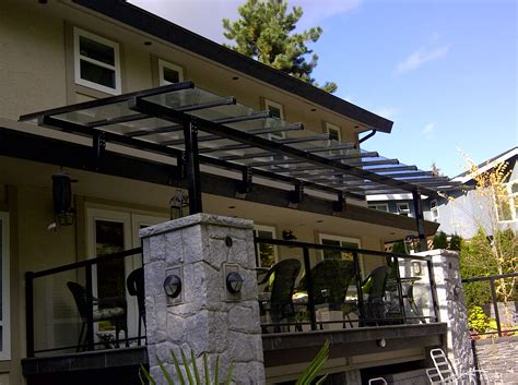 Glass Awning Residential by Glass Canopy Vancouver Repair Replace Installation