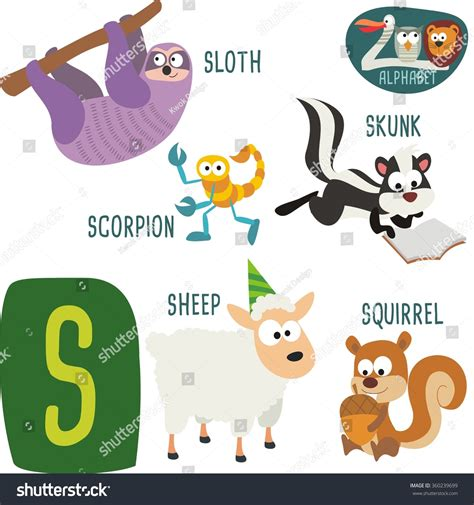 the potty zoo the funniest abc book books zoo alphabet vector s letter stock vector 360239699