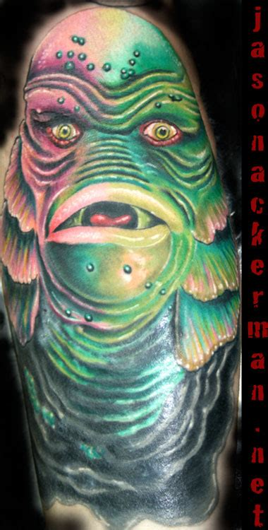 creature from the black lagoon tattoo creature from the black lagoon by jason ackerman tattoonow