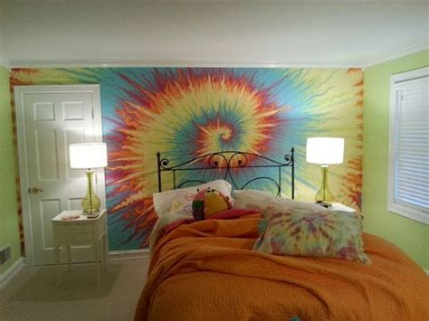 tie dye bedroom tie dye wall cool paint walls stuff kid