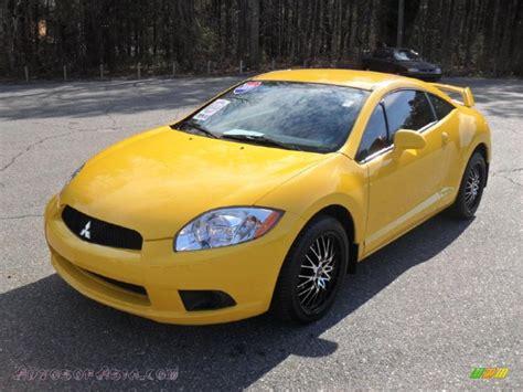mitsubishi eclipse yellow 2009 mitsubishi eclipse gs coupe in solar satin yellow