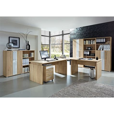 update office set 4 in white walnut 8210 furniture in fashio