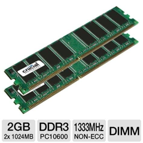 Memory V Ddr3 2gb Pc10600 buy the crucial 2gb pc10600 ddr3 1333mhz desktop memory up at tigerdirect ca