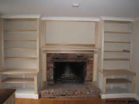 Fireplace Bookshelves Design Built In Bookshelves Plans Around Fireplace 187 Woodworktips