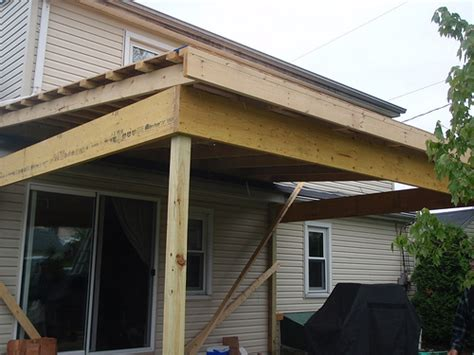 Back Patio Roof by Back Porch Roof Construction Flickr Photo