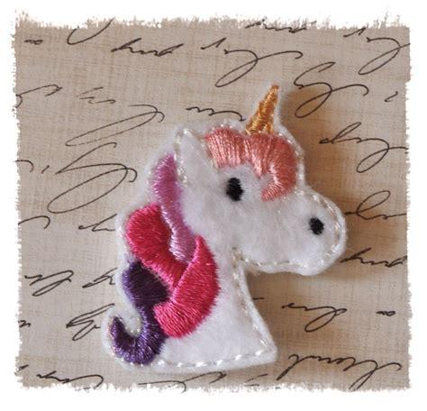 felt pattern unicorn 12 unicorn felt bow centers wholesale 10 00 via etsy