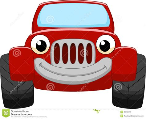 cartoon jeep front red car cartoon royalty free stock images image 33242099