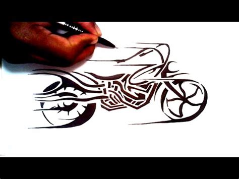tribal motorcycle tattoos drawing a tribal motorcycle design