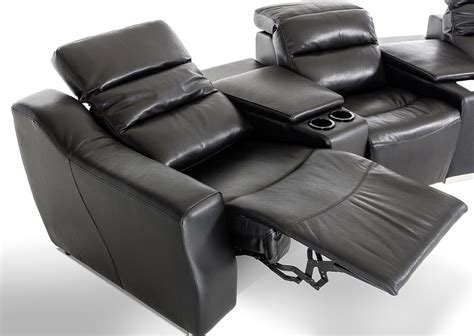Modern Black Leather Recliner by Divani Casa Salem Modern Black Eco Leather Recliner