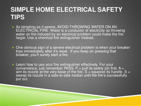 electrician clearwater fl simple home electrical safety tips