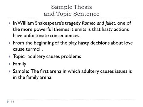 theme of romeo and juliet in one sentence how to write a literary essay ppt download