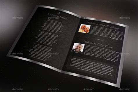 black dignity funeral program template  godserv