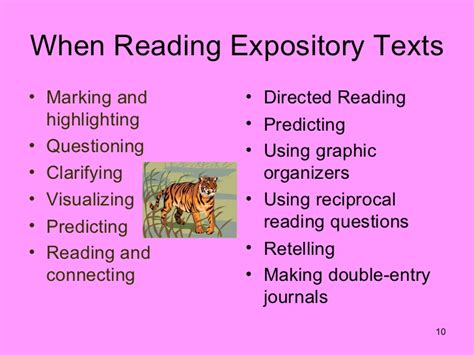 pattern of expository writing expository texts