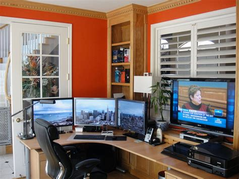 bright open home office for both work and play