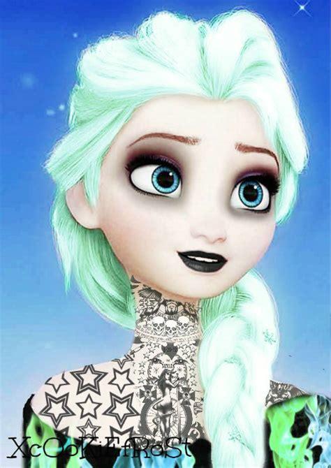 imagenes de elsa emo elsa frozen punk emo by xcookiefrost on deviantart