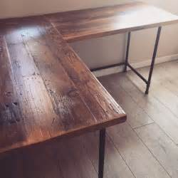 reclaimed wood desk diy 25 best ideas about reclaimed wood desk on