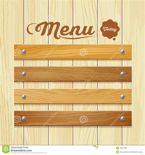 design background board menu wood board design background stock vector image