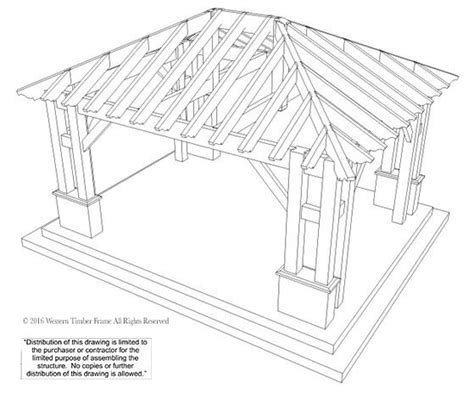 Timber Frame Hip Roof 22 X24 Hip Roof Pavilion W Integrated Self Contained