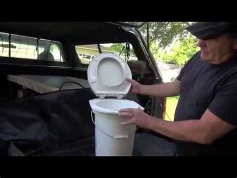 diy camping toilet  stable connected toilet seat