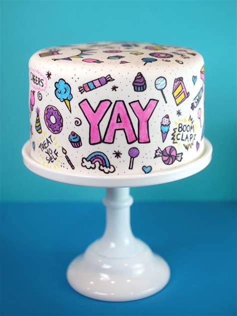 cake doodle ideas doodles and daydreams cake and treats