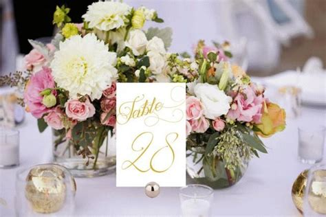 gold wedding table numbers table numbers printable wedding table numbers