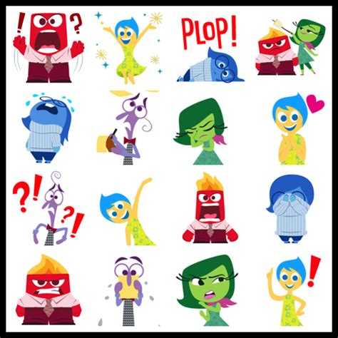 emoji characters inside out my disney life fun find inside out emojis