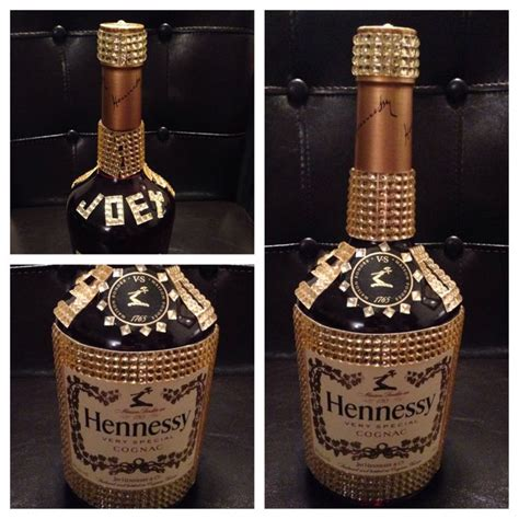 bejeweled hennessy bottle for bday boy 30th