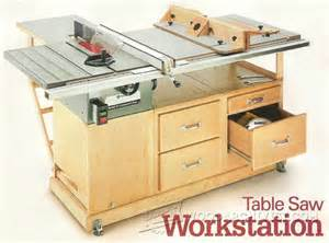 1268 table saw workstation plans woodarchivist