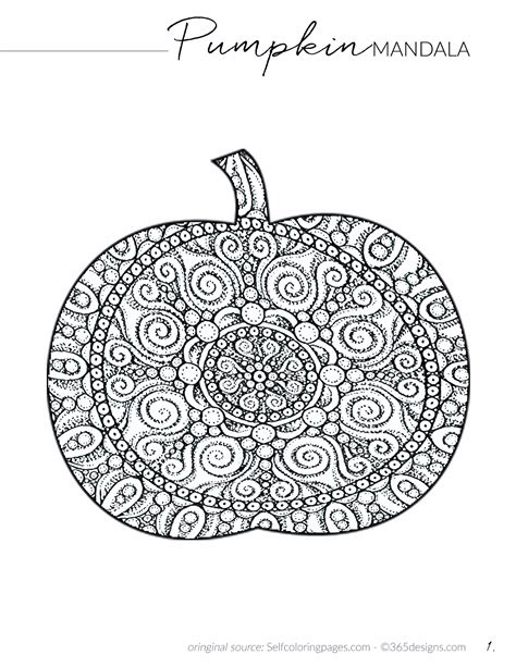 pumpkin mandala coloring pages 365 designs orange chicken from panda express with
