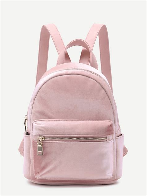 Velvet Mini Backpack velvet mini backpack blush makemechic