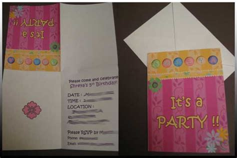 free printable birthday invitations quarter fold smiling snaps birthday parties evites or invites