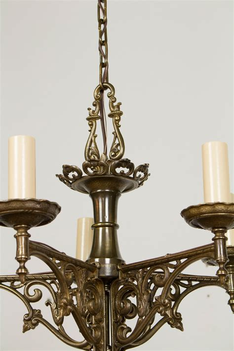Brass Chandelier Antique Five Light Antique Brass Tudor Chandelier Appleton Antique Lighting
