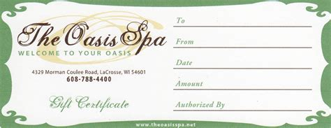 gift certificates spa gift certificate template free www imgkid the
