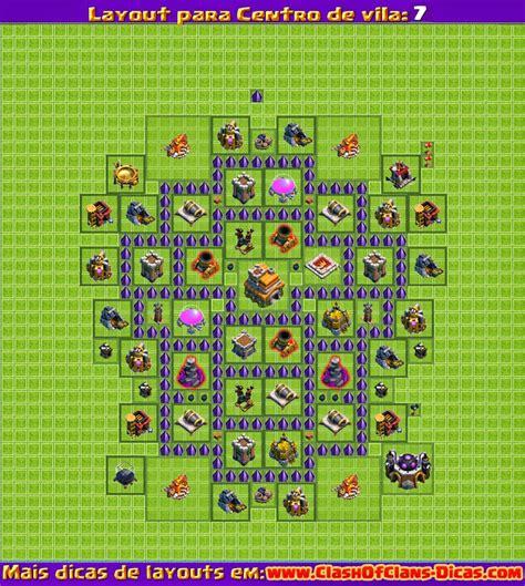 layout cv 7 clash of clans melhores layouts para clash of clans centro de vila n 237 vel