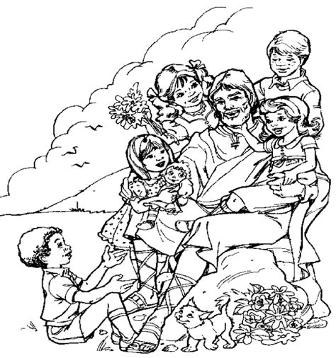 free coloring pages of jesus loves the little children of